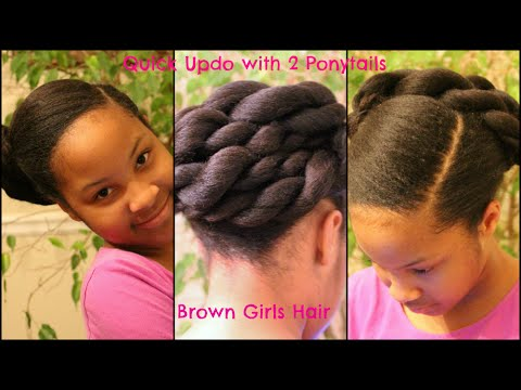 easy updo hairstyle girls
