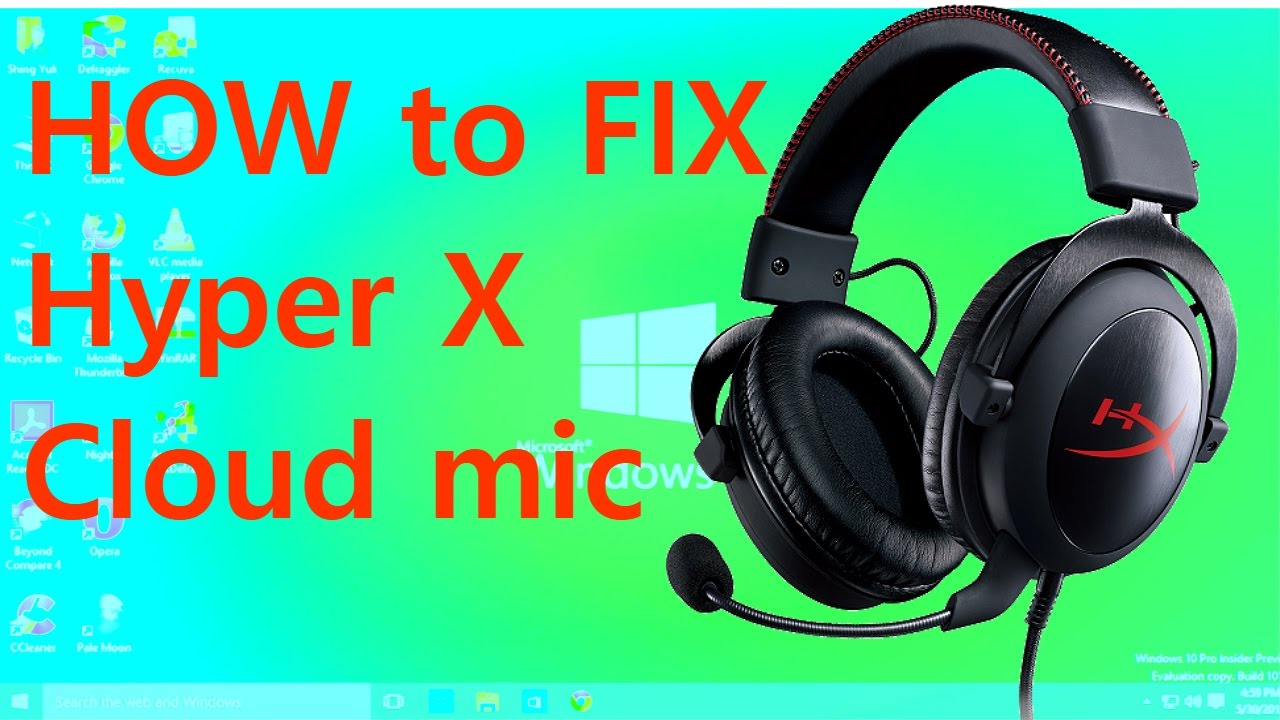 HyperX Cloud mic PROBLEM FIXED!!! (2019) /Works with all headsets/