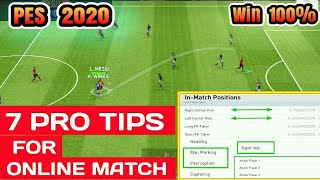 7 Tips to Win Online Match in PES 2019 MOBILE