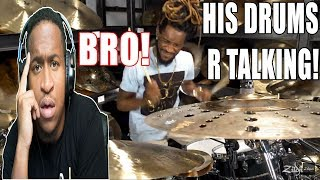 BRO!!!  His Drum Fills Sounds  Like His Rapping!  - Sean Wright