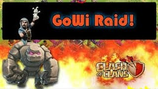 Clash of Clans | TH10 vs max TH9 GoWi 3 star Golem and Wizards