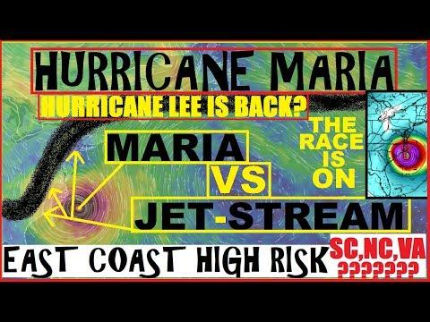 Hurricane MARIA Update! SOUTH Carolina NORTH Carolina VIRGINIA Must Be AWARE! Hurricane LEE?