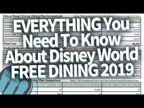 Disney World Free Dining 2019 - Everything You Need To Know!