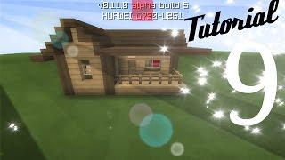 Repeat youtube video Como hacer una casa moderna de madera facil y sencilla para minecraft pe