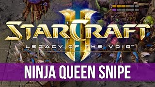 StarCraft 2: The Ninja Queen Snipe!
