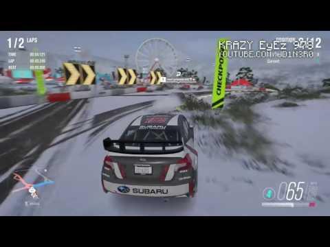 Forza Horizon  Blizzard Mountain Subaru Rally Car Engine