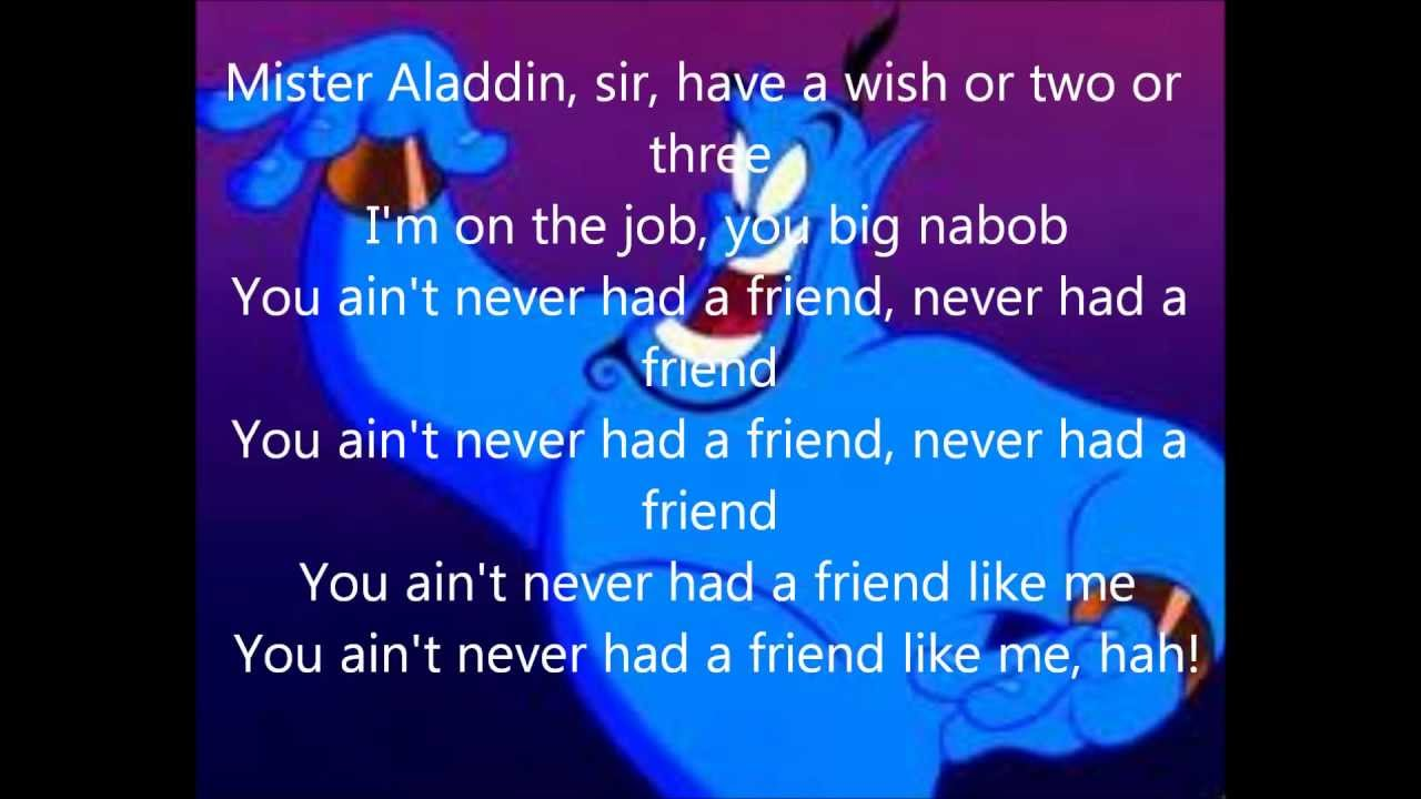 Disney - Friend Like Me Lyrics | MetroLyrics