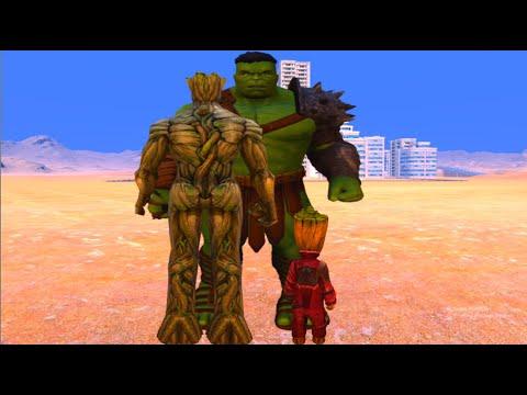 Download (Marvel vs Marvel) Hulk vs Groot and Baby Groot