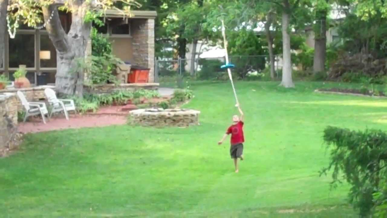 165 ft self built backyard zip line youtube