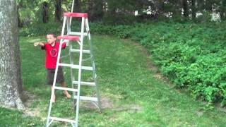 165 Ft. Self Built Backyard Zip Line