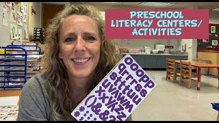 Preschool Literacy Centers/Activities