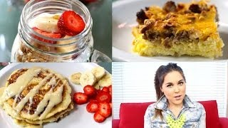 3 quick easy yummy breakfast ideas