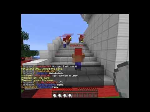 Minecraft Server fun: SNOWBALL FIGHT!