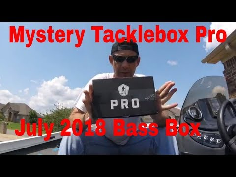 Mystery Tackle Box Pro Bass Box unboxing July 2018 and 1 item from Tackle Warehouse