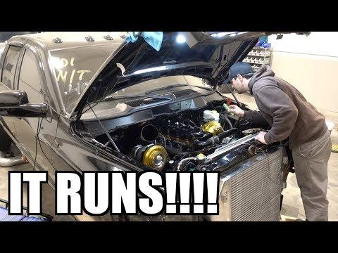 6.7 CUMMINS Engine Swap First FIRE UP!!!