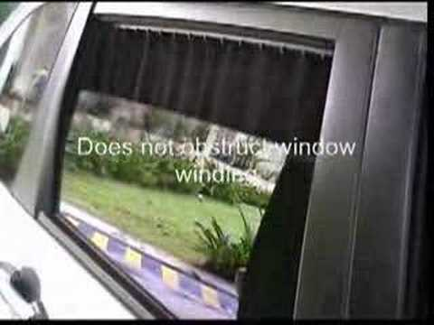 car sunshade curtain youtube. Black Bedroom Furniture Sets. Home Design Ideas