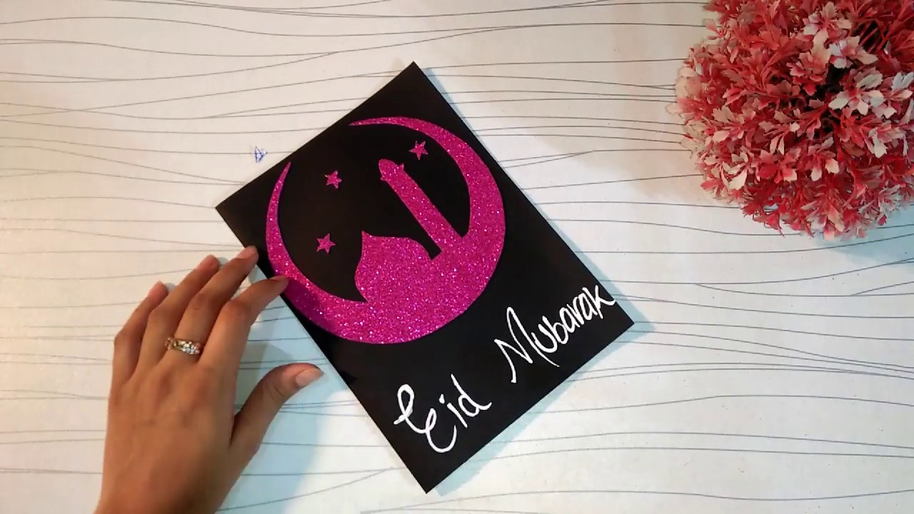 how to make eid mubarak card 💝  handmade easy cardfor