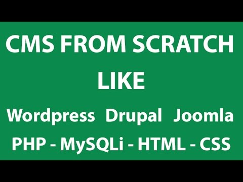 PHP Tutorials #1 - Creating an Advance CMS From Scratch like Wordpress with admin and more....