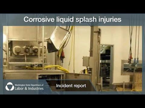 Corrosive Liquid Splash injuries