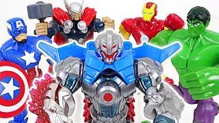 Defeat the greatest villain Ultron appeared! Go Marvel Hulk, Thor, Iron, Iron Man!! - DuDuPopTOY