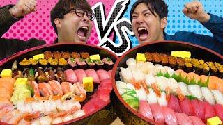 ゲーム負けた奴から大食い!寿司200貫を食べまくれ!【VR】