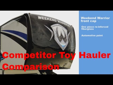 Competitor toy hauler Brand Compare with Weekend Warrior Toy Hauler