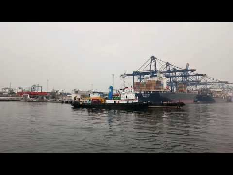 Port of Tanjung Priok Jakarta The Bigest Port in Indonesian