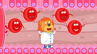 Lion Family 🍒 Wash Wash Your Teeth | Cartoon for Kids