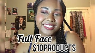 FULL FACE OF PRODUCTS $10 OR LESS