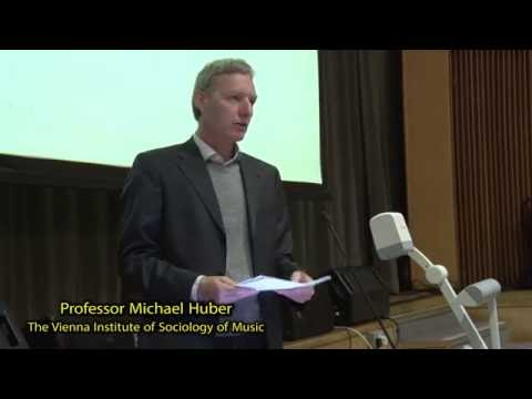 Professor Michael Huber from the Vienna Institute of Sociology of Music