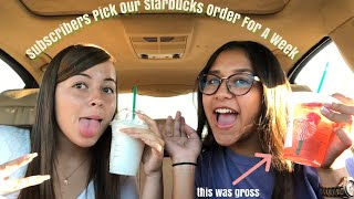 Subscribers Pick Our Starbucks Order