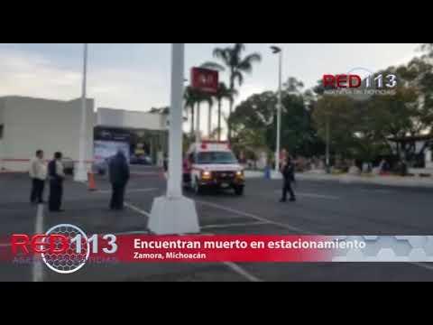 VIDEO Encuentran muerto en estacionamiento de supermercado