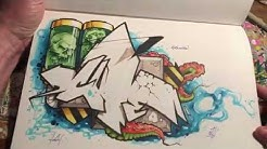 CUTE graffiti blackbook flipthrough