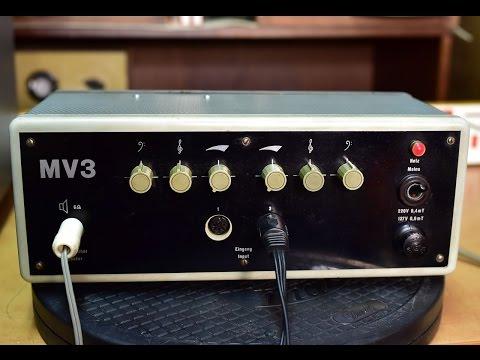 Vermona MV3 Röhrenverstärker VEB Musikelektronik Klingenthal DDR, vacuum tube amplifier, zesilovač