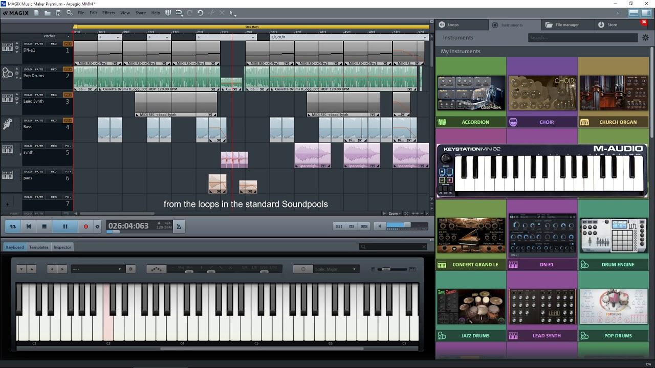 maker music magix midi loops