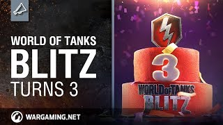 World of Tanks Blitz Turns 3