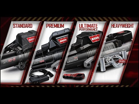 The WARN Truck and SUV Winch Lineup