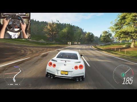 Nissan R35 GTR  - Forza Horizon 4   Logitech g29 gameplay