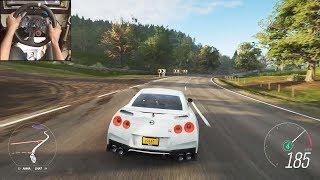 Nissan R35 GTR  - Forza Horizon 4 | Logitech g29 gameplay