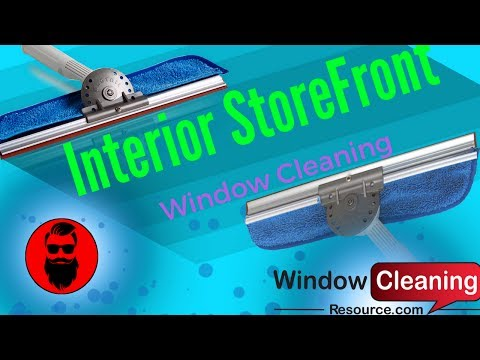 Interior StoreFront Window Cleaning
