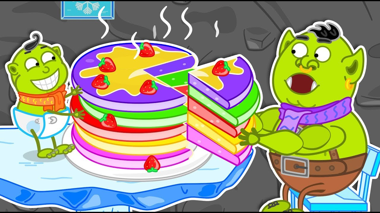 Lion Family ? Journey to the Center of the Earth #15. Rainbow Pancakes | Cartoon for Kids