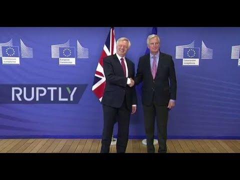 LIVE: Article 50 negotiations between the UK and EU begin in Brussels: Davis arrival