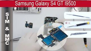 How to replace 🔧 📱 Sim & MMC connector (Sim slot) Samsung Galaxy S4 I9500 / I9505