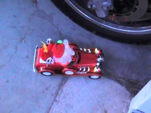 Christmas Santa Bump n GO Cartoon Jalopy Car