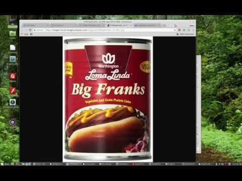 Loma Linda and Worthington canned foods.  FriChik, Big Franks