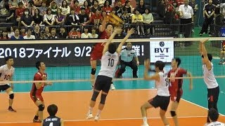 Yuki Ishikawa, Yuji Nishida, Japan vs South Korea 2018 International friendly match 2nd set