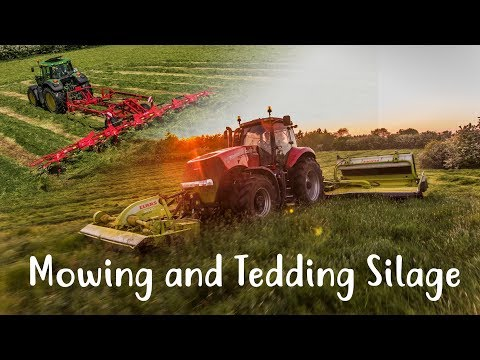 Mowing and Tedding Silage 2017 - McGuigan Brothers Agri Contracts