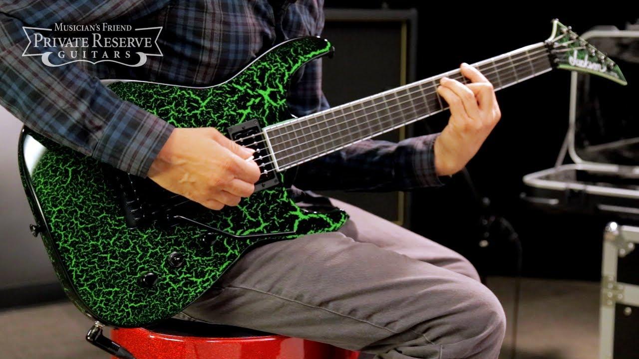 Jackson Custom Select Soloist Electric Guitar Black Green