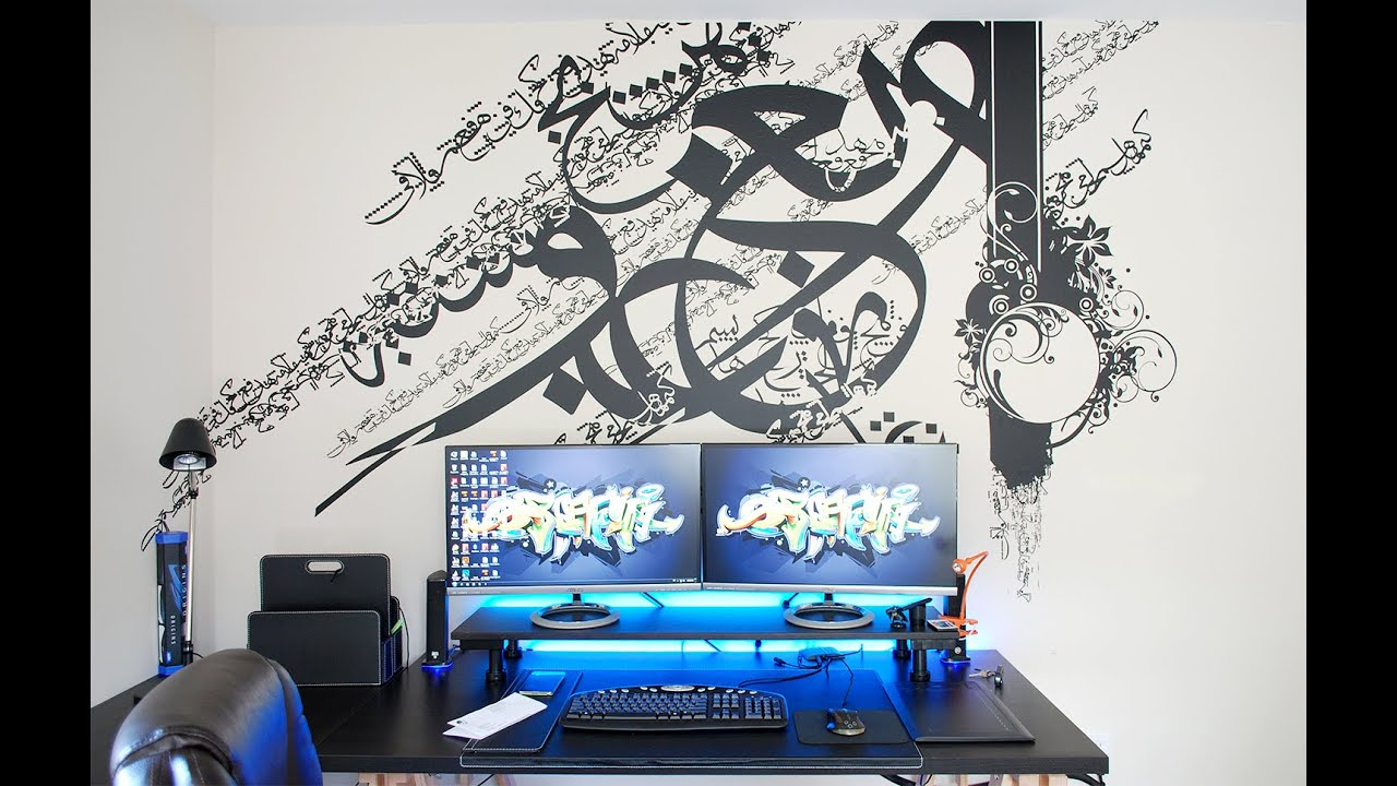 Setup Room Tour Arabic Wall Decal Calligraphy YouTube - Wall decals 2016