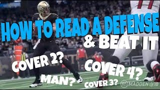 MAKE PASSING EASY! READ & BEAT EVERY DEFENSE IN MADDEN 18! COVER 2,3,4 MAN OR ZONE OFFENSE TIPS